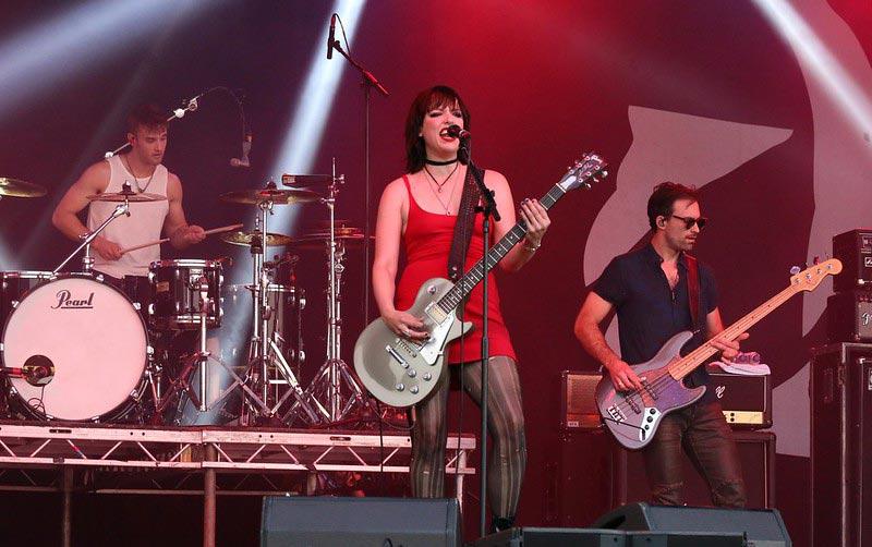 Female Metal Singer Lzzy Hale Performing Live