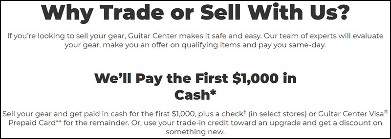 How Much Does Guitar Center Pay for Used Gear