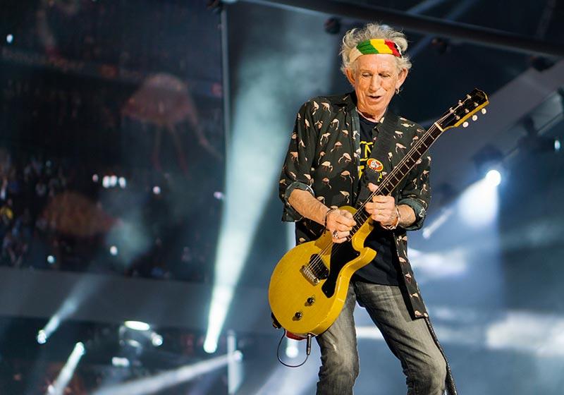 Keith Richards Playing Guitar Live