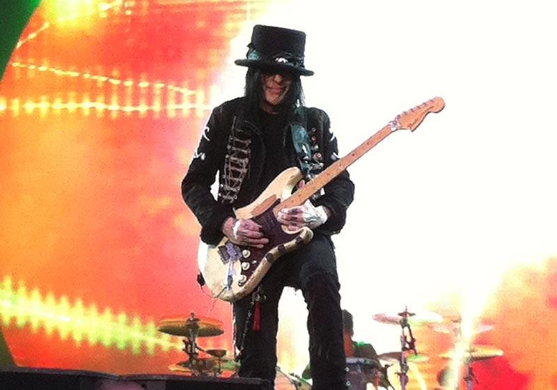 Mick Mars Playing Guitar Motley Crue Live