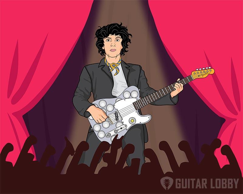 Syd Barrett Playing Guitar