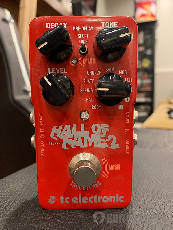 Example of a reverb pedal by TC electronics
