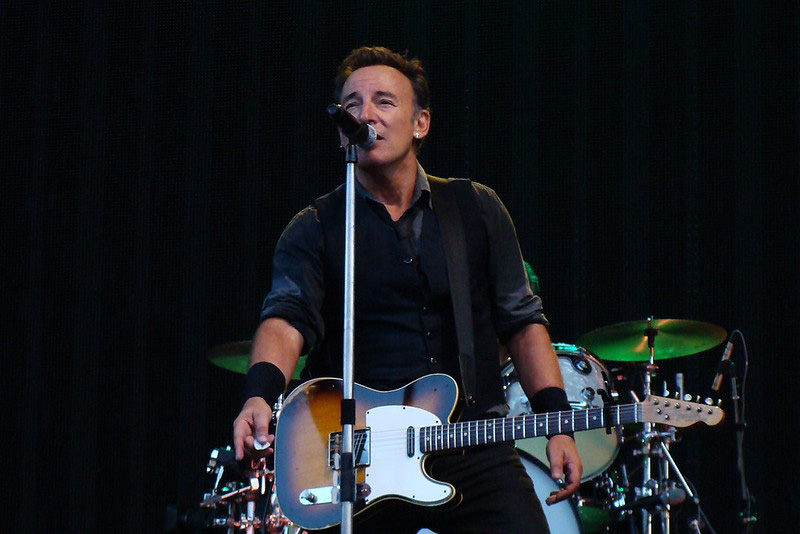 Bruce Springsteen Playing Guitar
